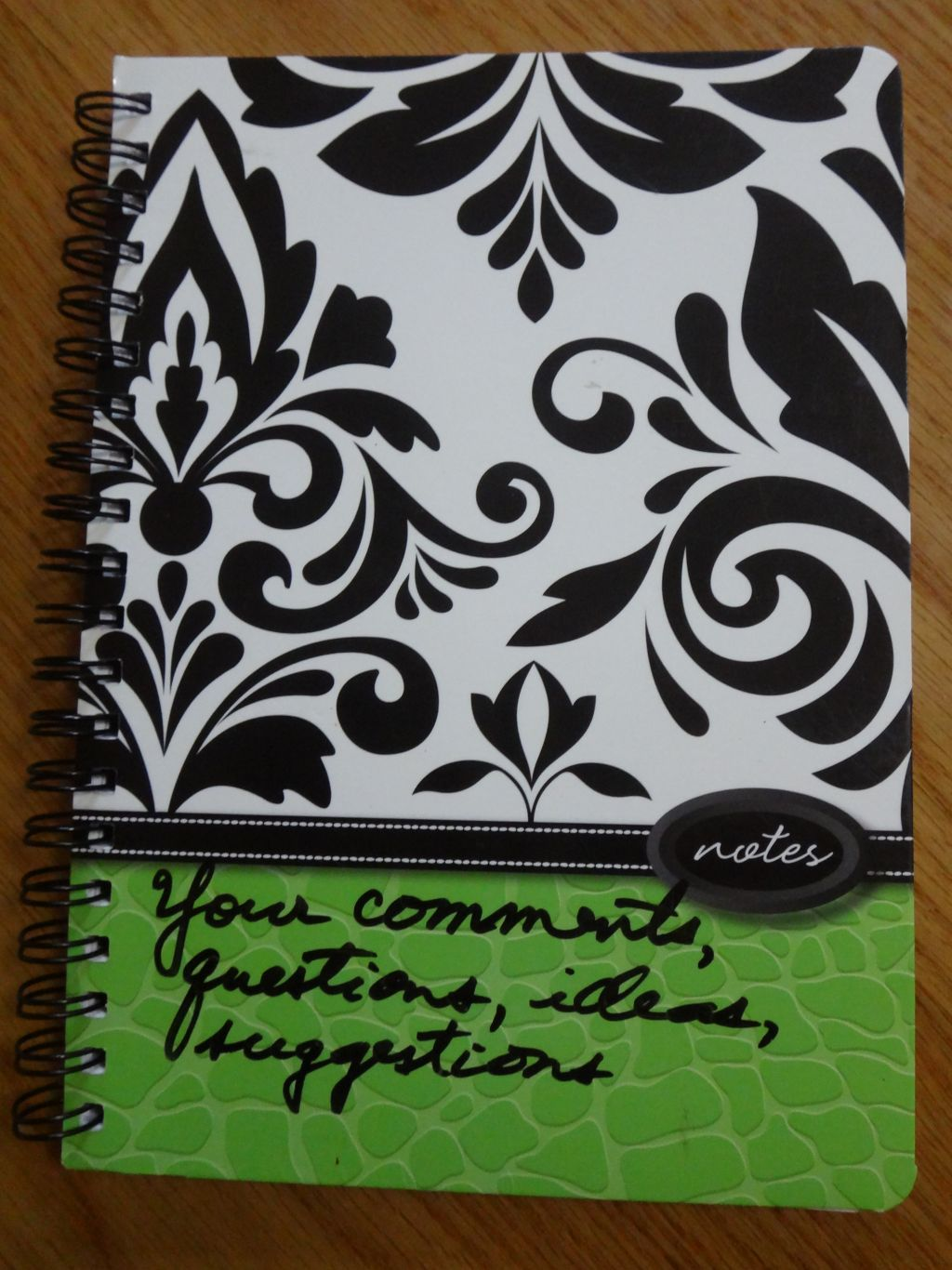 Comments notebook.  Click to see comments.